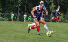 Haleigh Finale scored the overtime winner in RMUs season-ending victory. Photo credit: Samantha Dutch