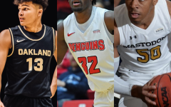 Ethan Morrison ranks 7-9 in the Horizon League. Oakland (left), Youngstown State (center), Purdue Fort Wayne (right)
